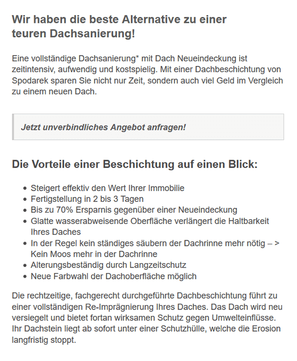 Dachbeschichtung Vorteile aus 78073 Bad Dürrheim: Dachfarbe, Reinigung, Lebensdauer