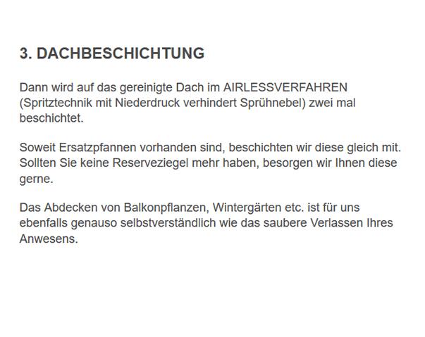 Beschichtung mit Garantie für  Oberasbach