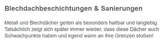 Blechdachbeschichtung für  Neuburg (Kammel)