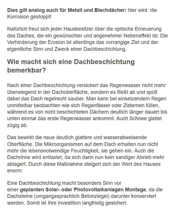 Dachbeschichtung Informationen aus  Ebersburg