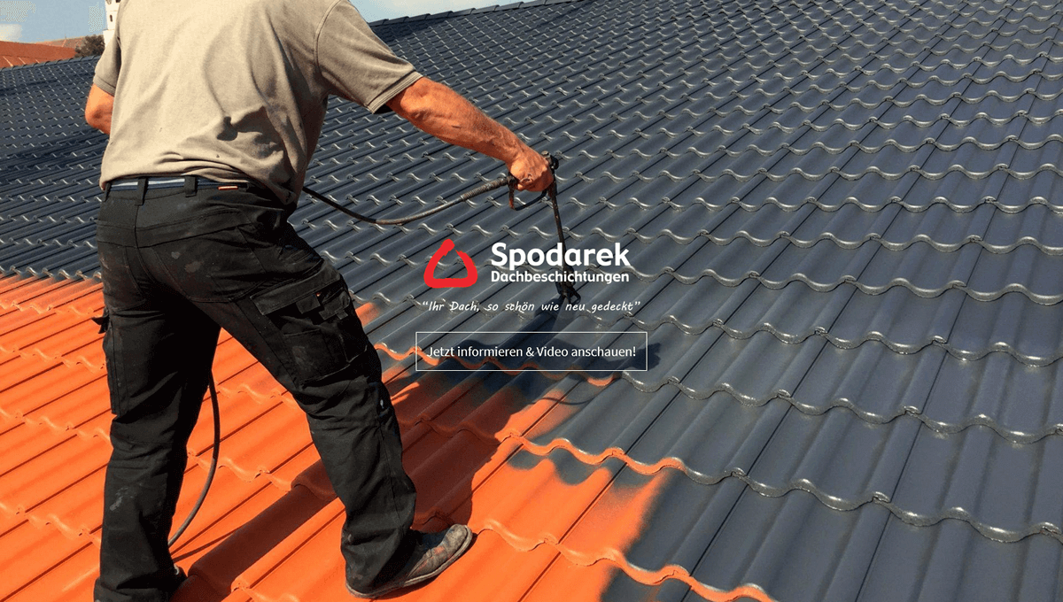Dachbeschichtung in Otterbach - 🥇 SPODAREK: Dachreinigung, Dachsanierung, Dachdecker Alternative