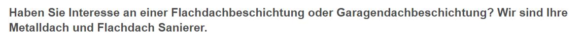Garagendachbeschichtung in 35619 Braunfels