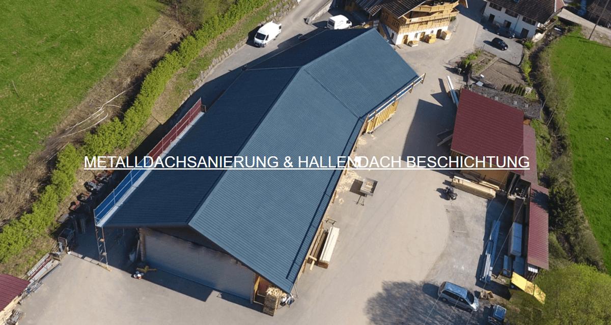 Metalldachbeschichtungen Weinheim - Spodarek Dachbeschichtungen: Hallendach Sanierung, Metalldachsanierungen, Blechdach Beschichtung