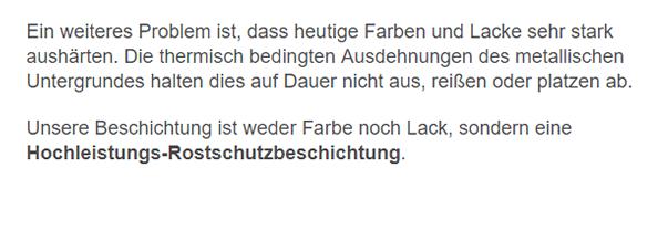 Rostschutzbeschichtung für  Edingen-Neckarhausen