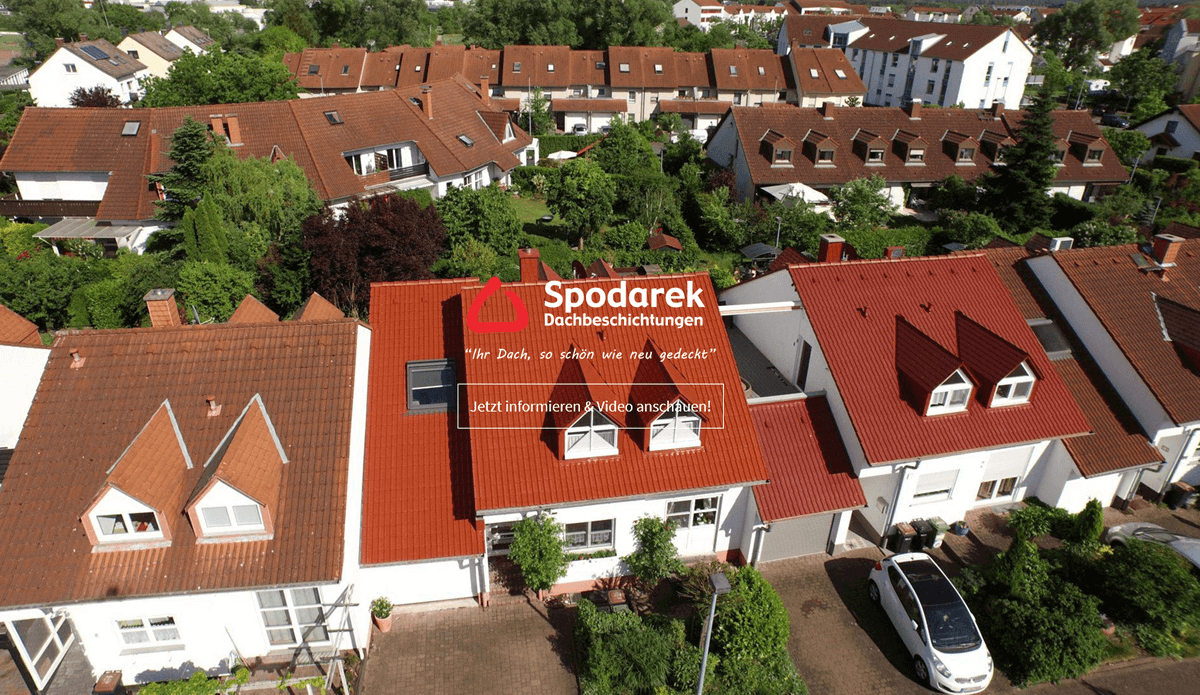 Dachsanierung in Saarbrücken - Spodarek Dachbeschichtungen: Dachreinigung, Dachrenovierung, Dachimprägnierung