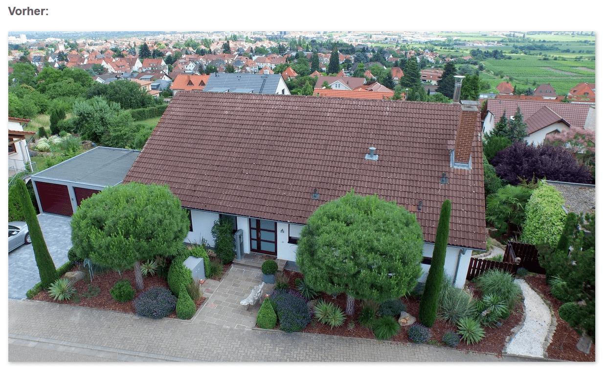 Dach Vorher: Schmutz, Moose in den Dachrinnen aus  Tübingen